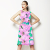 Floral Flower Lilac Green (Dress)
