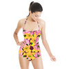 Flower Collage Maroon (Swimsuit)
