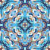 Blue Tile Gold (Original)