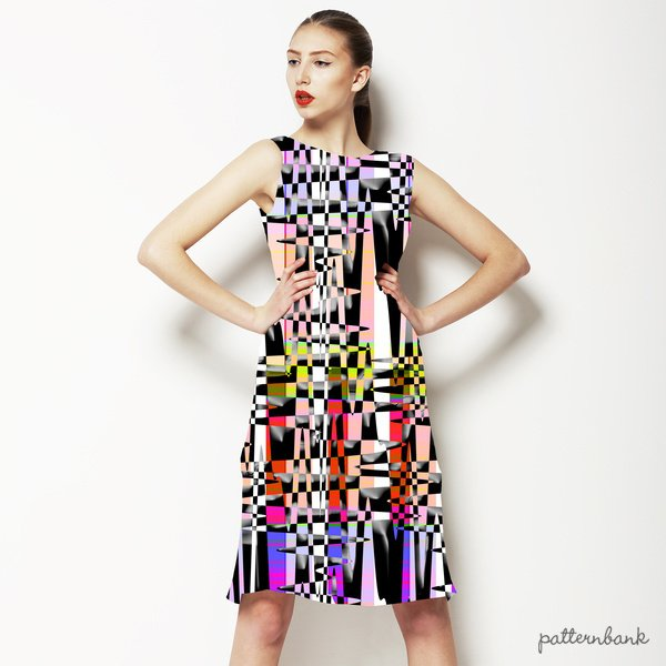 Abstract Checkered