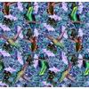 Hummingbird and Flowers (Original)