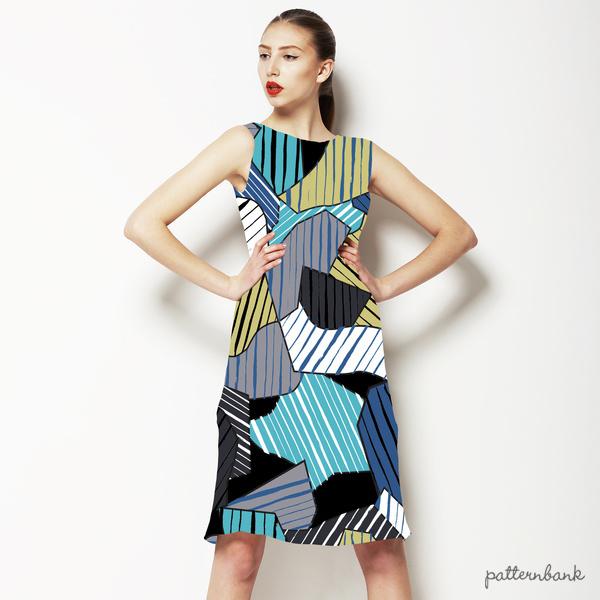580 Geo Camo Stripes Print