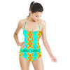 Tropical Floral and Plants No8 Repeat Tropical Floral Pattern by Dawid Roc (Swimsuit)