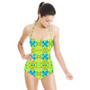 Tropical Floral and Plants No6 Repeat Tropical Floral Pattern (Swimsuit)