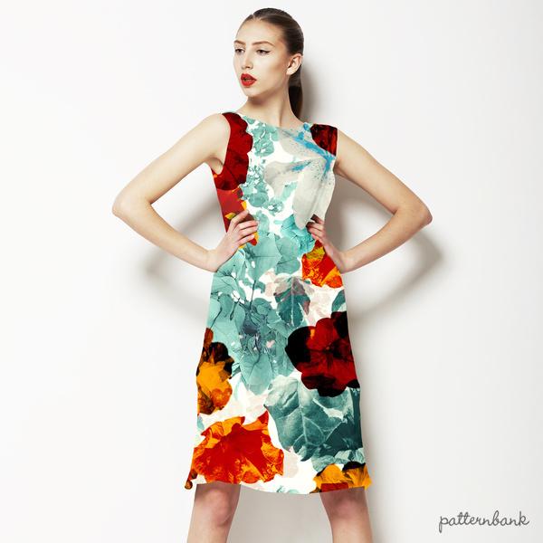 576 Tropical Floral Print
