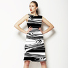 Graphic Swirl Stripe (Dress)