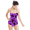 Mix Abstract Paisley Dots Print. Paisley 3DDS03. (Swimsuit)