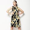 Caraway Ink Abstract Brush Dots (Dress)