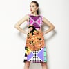 Geometric Tiger Vector Print (Dress)