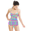 Multicoloured Square Print (Swimsuit)