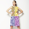 Mix Geo Patterns, Prints for Women's Wear, Home Textile in Repeat and Color Separations. Geo 3DDS06. (Dress)
