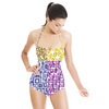Mix Geo Patterns, Prints for Women's Wear, Home Textile in Repeat and Color Separations. Geo 3DDS06. (Swimsuit)
