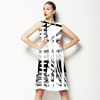 Black and White Abstract (Dress)