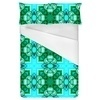 Blue Squares Waterpaint Green Rounds (Bed)