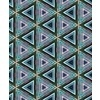 Triangle Repeat Pattern Blue Green Orange Wood Texture (Original)