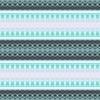 Blue Stripes Floral Waterpaint Ornamental Repeated Pattern (Original)
