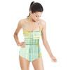 Overlapping Textured Stripe Brushstrokes. (Swimsuit)