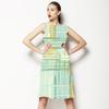 Overlapping Textured Stripe Brushstrokes. (Dress)