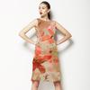 541 Big Pink Iris Floral Print (Dress)