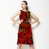 Red Iris Hawaiin Print (Dress)