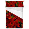 Red Iris Hawaiin Print (Bed)