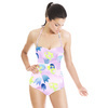 Abstract Watercolor Bellflowers (Swimsuit)