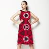 Ethnic Red Geometric (Dress)