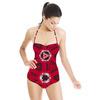 Ethnic Red Geometric (Swimsuit)