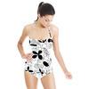 Black & White Flower Meadow (Swimsuit)