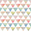 Ethnic Watercolor Triangles Pattern (Original)