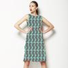Purple Blue Simple Zig-Zag Stripe (Dress)