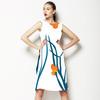 Blue Gras and Orange Dots (Dress)