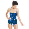 Teal and Blue Floral (Swimsuit)