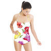 Watercolor Floral With Ink Drawing (Swimsuit)