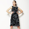 Busy City Abstract Allover Graphic Print (Dress)
