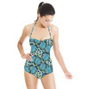 Tropical Leafs and Animal Print (Swimsuit)