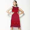 Gradient Medieval Pattern in Red and Purple (Dress)