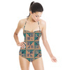 Geometric Structure Filled Hologram Texture (Swimsuit)