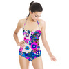 Pink and Blue Floral (Swimsuit)