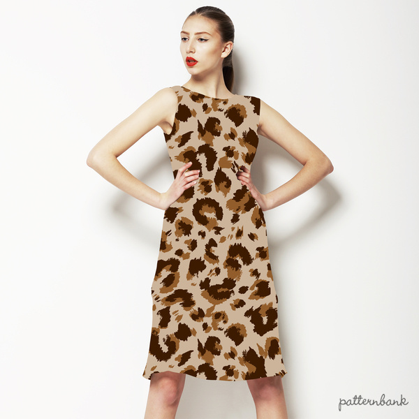 Neutral Leopard Repeat Pattern
