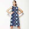 Indigo Diamond Chevron (Dress)