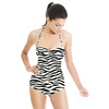 Scribbled Zebra Pattern (Swimsuit)