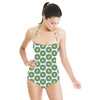 Green Graphic Flowers (Swimsuit)