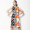 Flowers Effective With W/B (Dress)