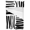 Brushed Black Hand Drawn Stripes in a Seamless Pattern. (Bed)