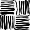 Brushed Black Hand Drawn Stripes in a Seamless Pattern. (Original)