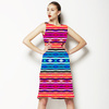 Colorful Ethnic Striped Pattern (Dress)