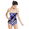 Mix Stripes Plaid and Checks Pattern 9 (Swimsuit)