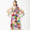 Seamless Abstract Colorfull Inspired Handmade Floral Textile (Dress)