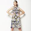 Seamless Vintage Abstract Inspired Floral Textile (Dress)